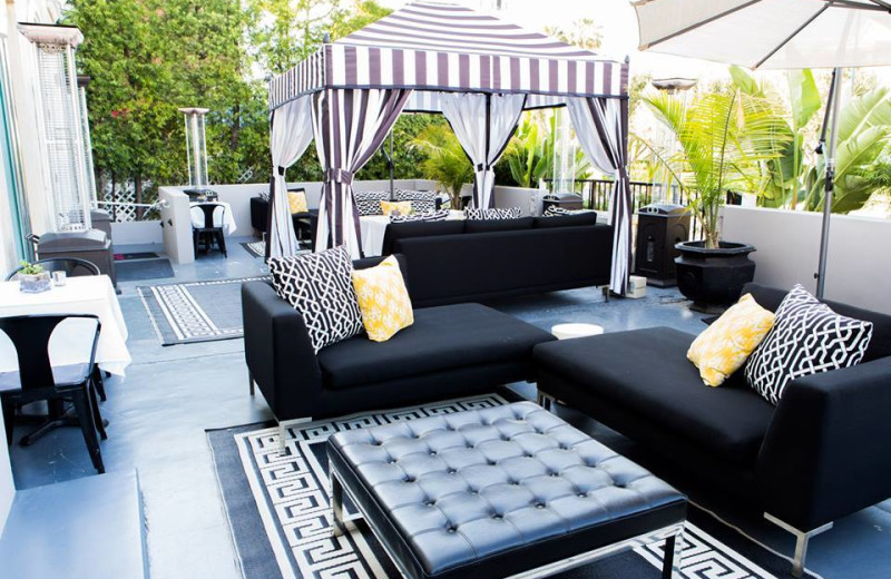 Patio at The Crescent.