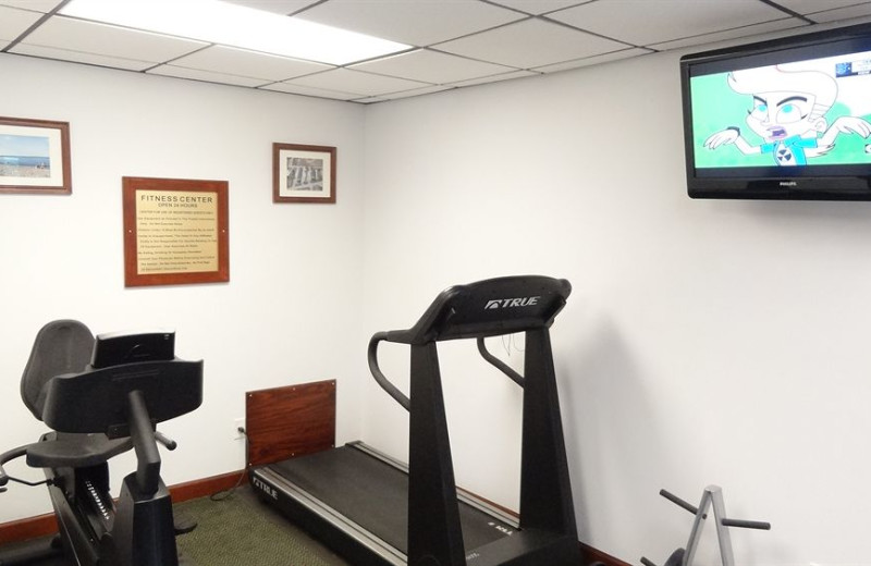 Fitness room at @ Michigan Inn and Lodge.