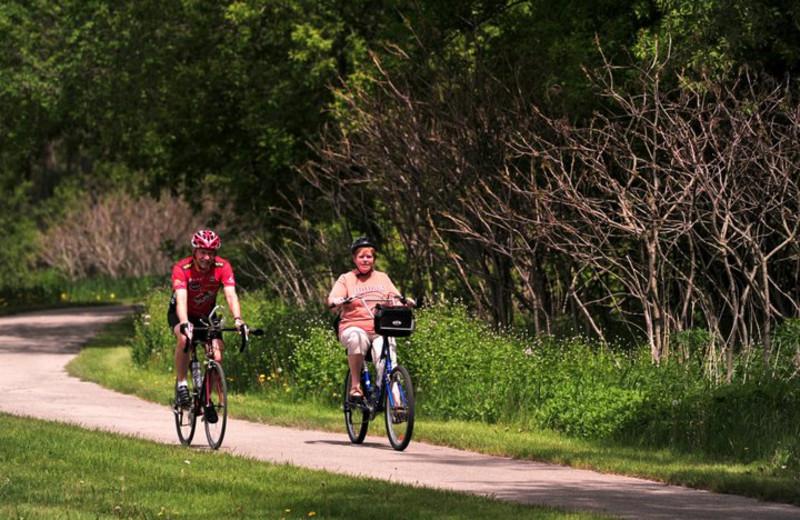 Biking at Cedar Valley Resort.