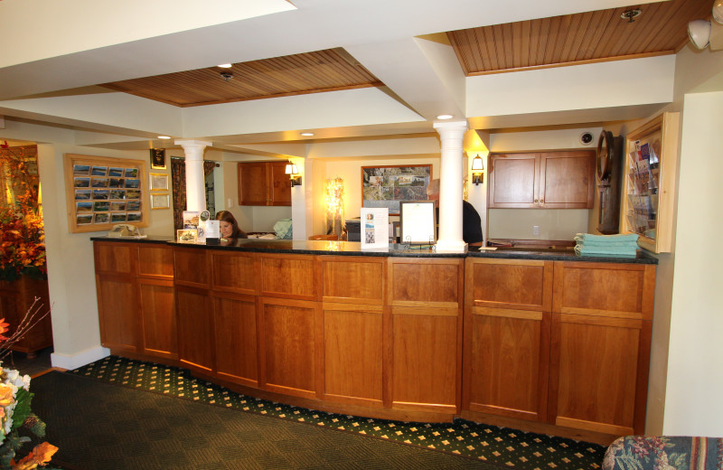 Front desk at The Meadowmere Resort.