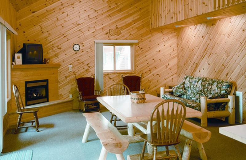 Cabin interior at Lakecrest Resort.