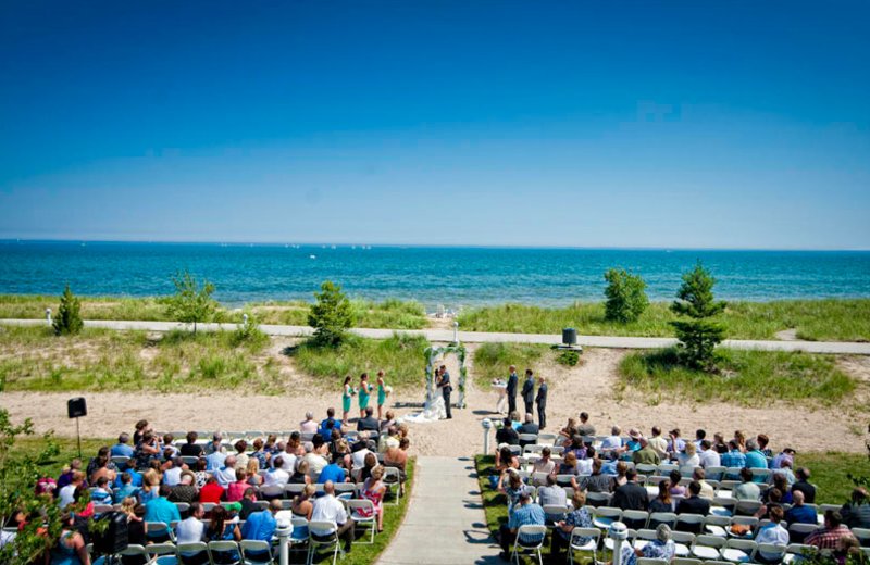 Beach wedding at Blue Harbor Resort and Spa.