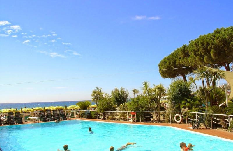 Outdoor pool at Hotel Gabriella.