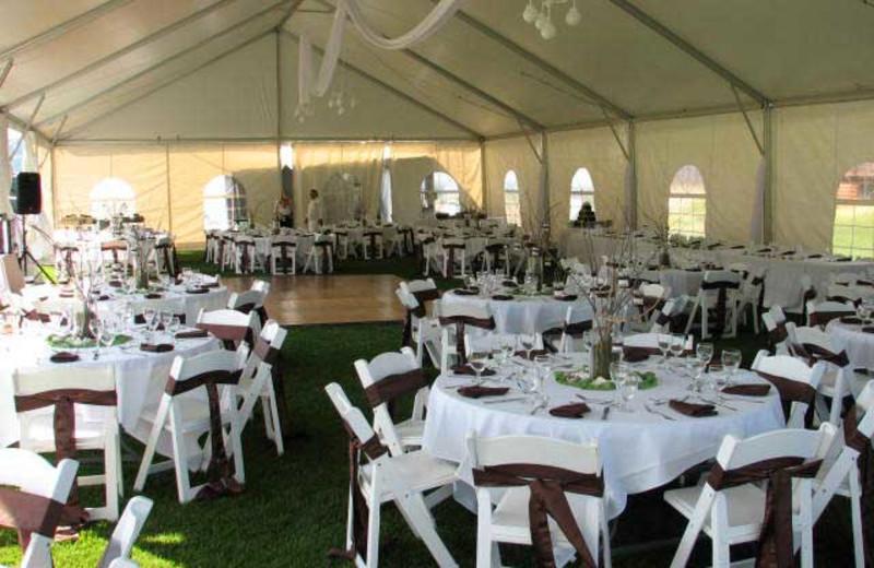 Wedding reception at Teton Springs Lodge.