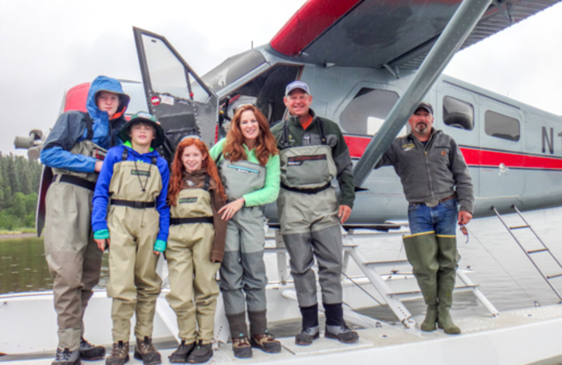 Family at Angry Eagle Lodge & Outfitters.