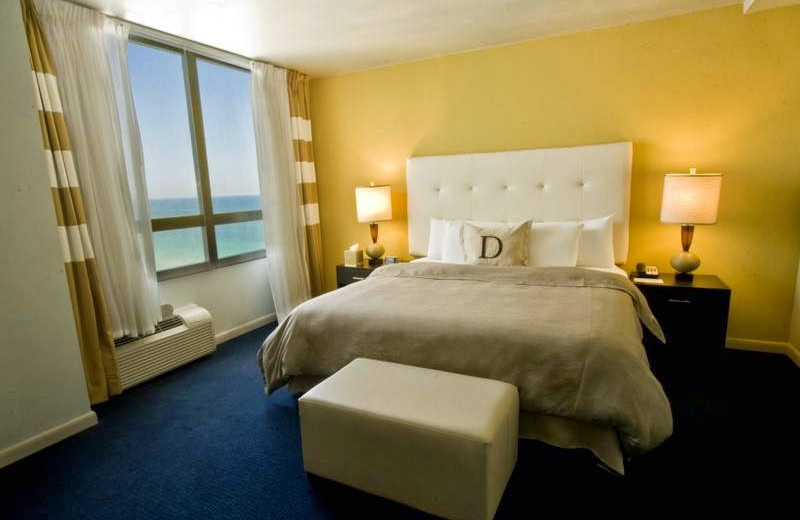 Guest room at Deauville Beach Resort.