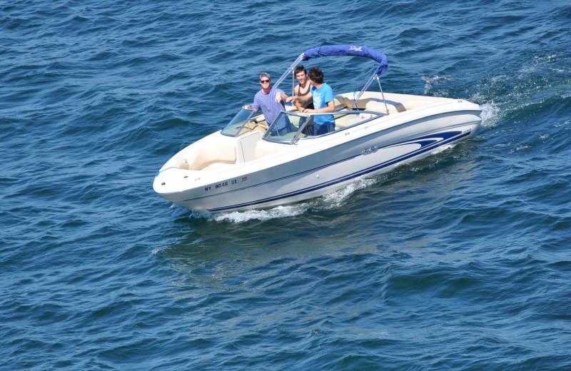 Boating at Marine Village Resort.