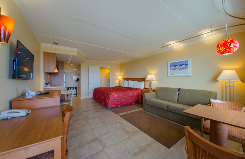 Guest room at Fleur De Lis Beach Resort.