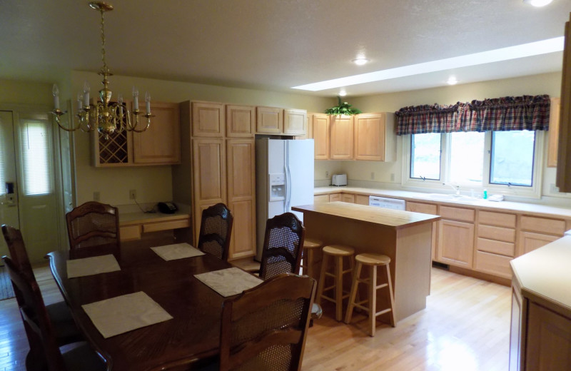 Guest kitchen at Garland Lodge and Resort.