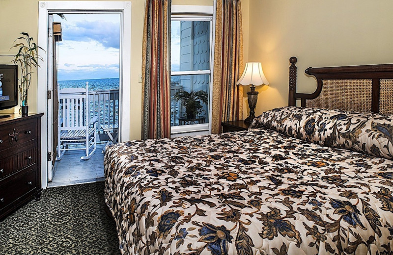 Guest room at The Lighthouse Inn at Aransas Bay.