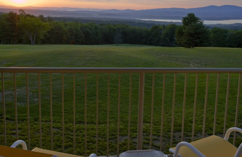 Guest balcony at Steele Hill Resorts.