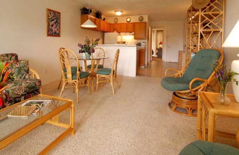 Vacation rental interior at Hale Kamaole Condos.
