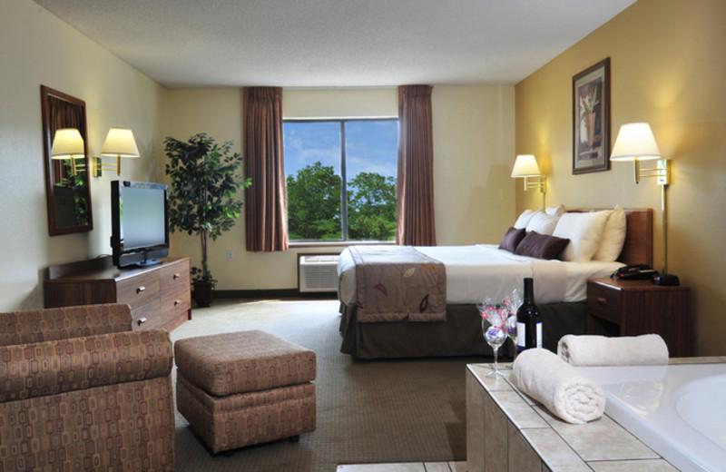 Jacuzzi Suite at Ramada Wisconsin Dells