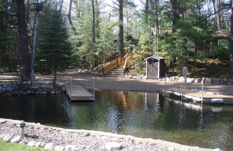Boat landing at White Birch Village Resort.