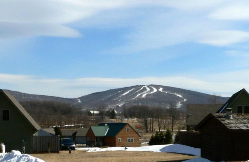 View of ski mountain at Windwood Fly-In Resort.