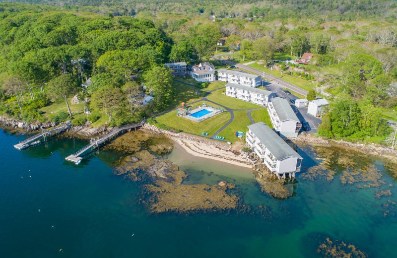 Aerial view of The Smugglers Cove Inn.