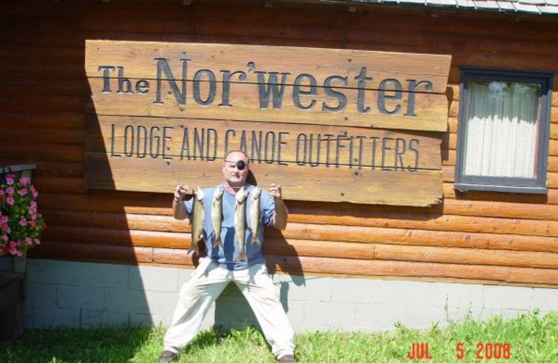 Fishing at Nor'Wester Lodge.
