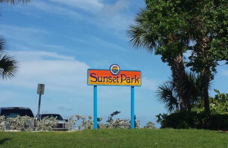 Sunset Park near Gulf Winds Resort Condominiums.