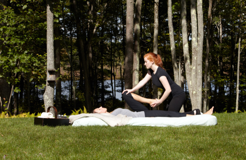Thai massage at the Lodge at Woodloch.