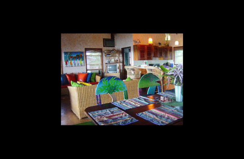 Interior at Coco Caye Villa.