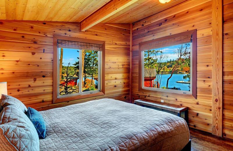 Guest bedroom at Snug Harbor Marina Resort.