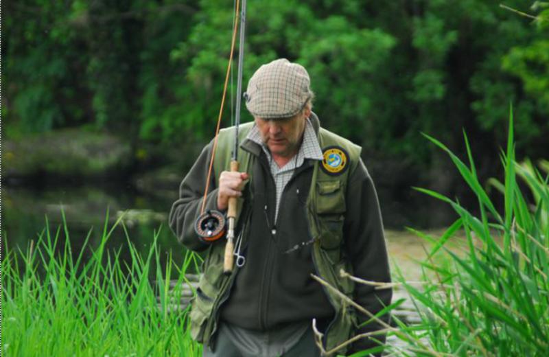 Fisherman at Kilcoleman Fishery.