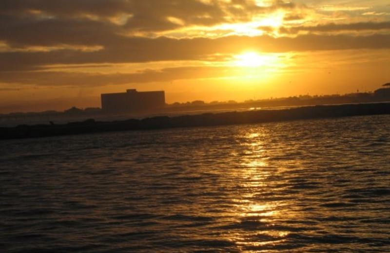 Sunset at The Dunes Condominiums.