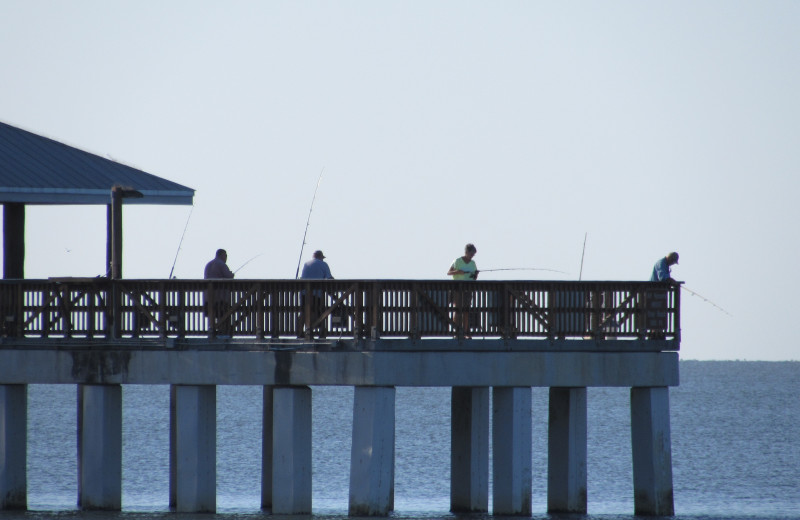 Fishing at Edison Beach House.