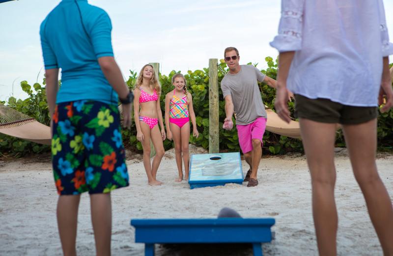 Bean bag toss at TradeWinds Island Grand.
