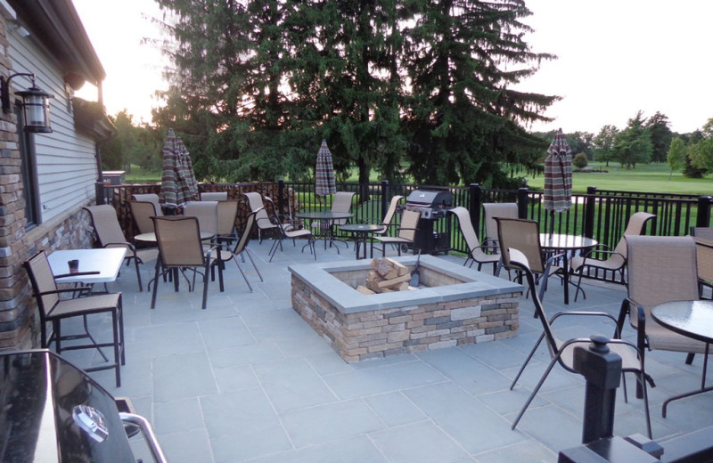 Patio at Fairway Suites.