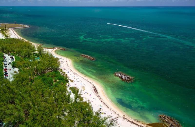 The beach at The Inn at Key West.