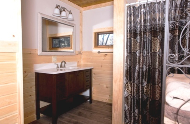 newly remodeled Bathroom at Creeksong cottage
