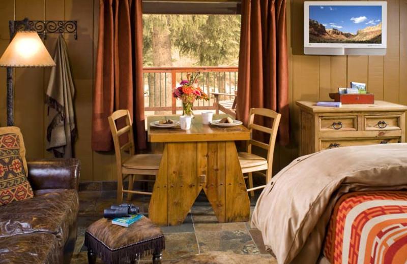 Cabin interior at O-Bar-O Cabins.