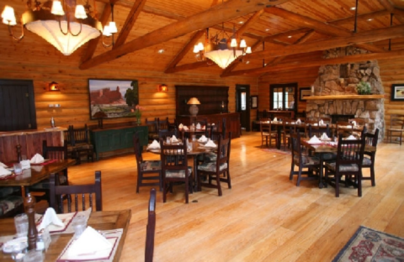 Restaurant at The Hideout Lodge & Guest Ranch.