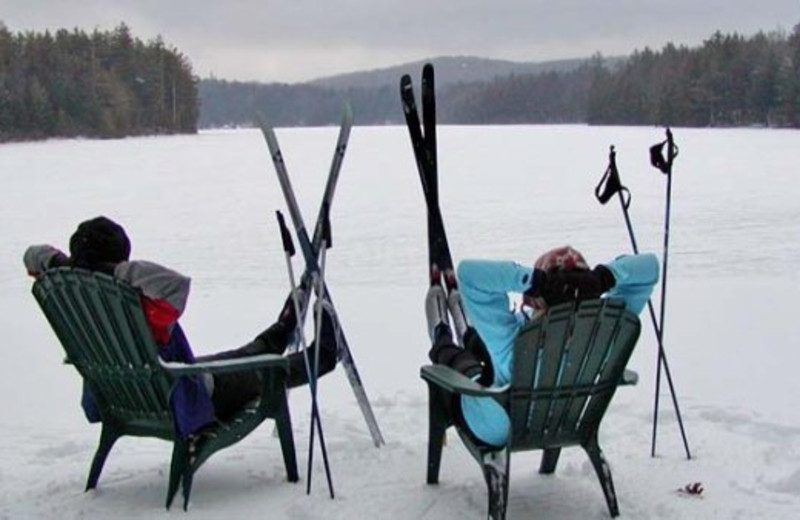 Relaxing on the Lake at Lapland Lake Nordic Vacation Center