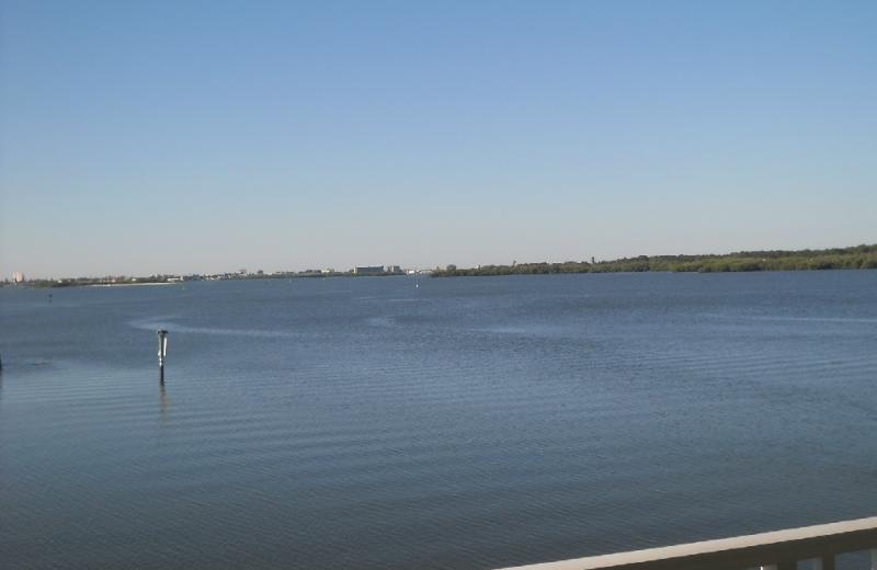 Balcony view of water at Boca Ciega Resort.