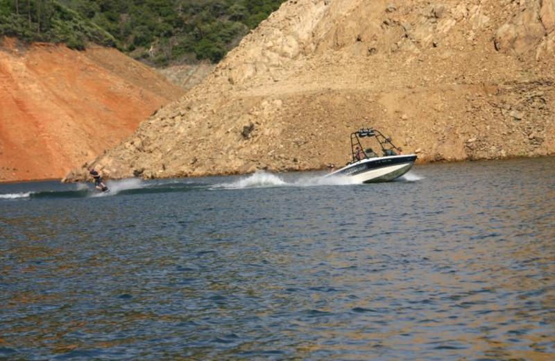 Water skiing at Lake Oroville.