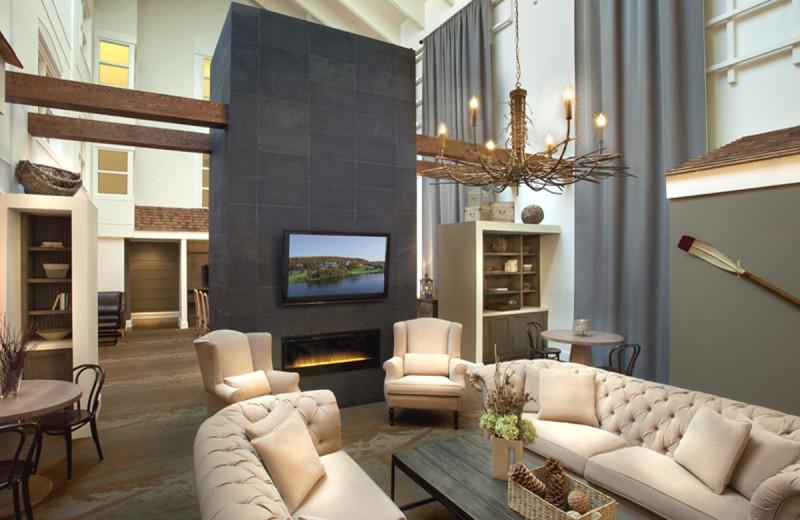 Lobby at Deerstalker Resort.
