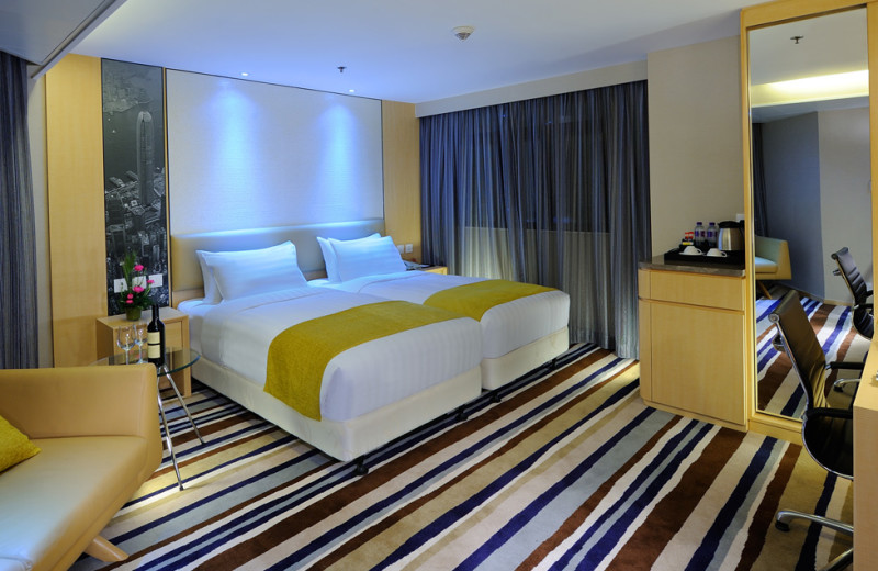 Guest room at Hotel Concourse.