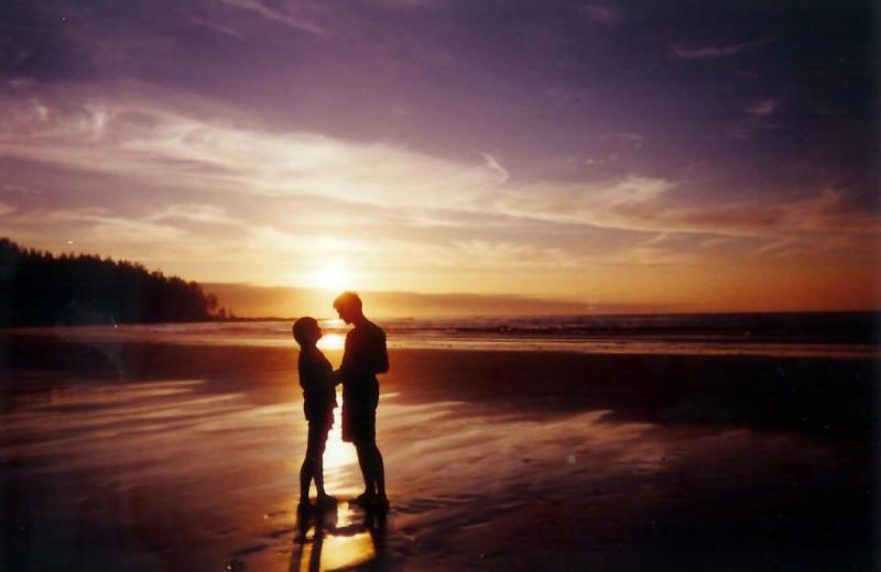 Beach sunset at Edgewater Resort.