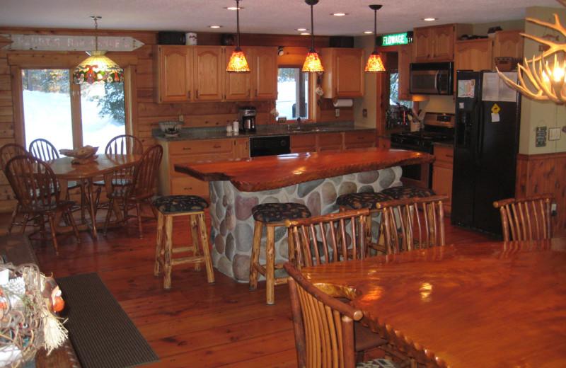 Kitchen view at Totagatic Lodge.