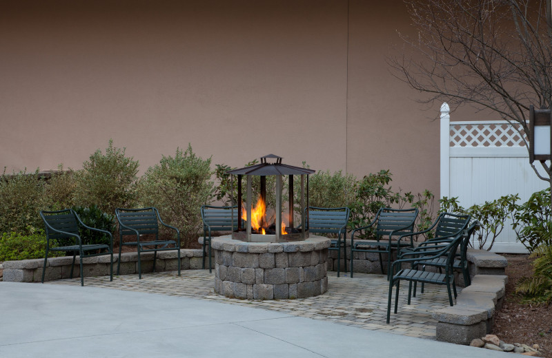 Fire pit at Holiday Inn Club Vacations Smoky Mountain Resort.