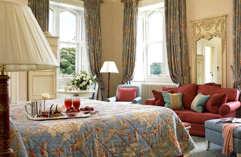 Guest room at Dromoland Castle.
