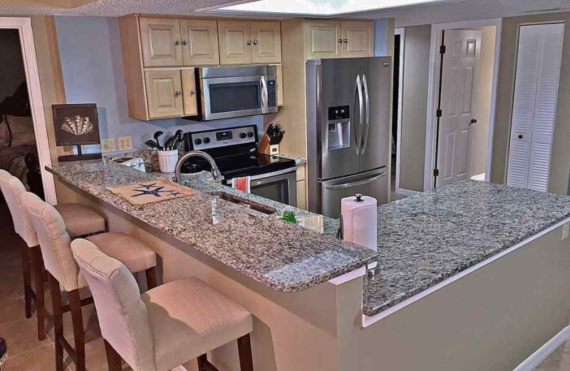 Rental kitchen at beachrentals.mobi. LLC.