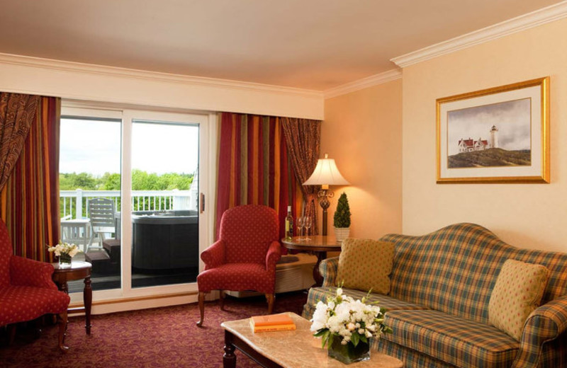 Suite Living Room at The Samoset Resort