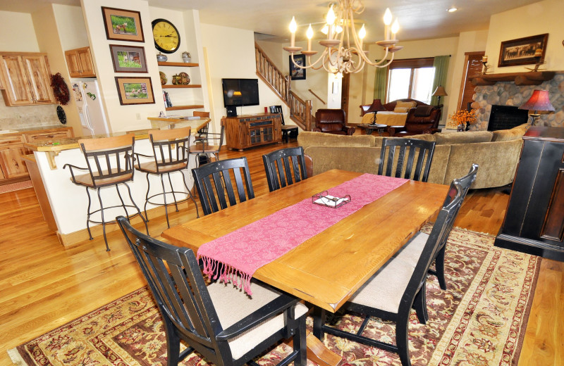 Rental dining area at Steamboat Lodging Properties.