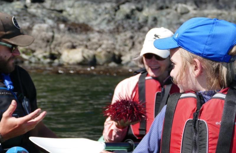 Boating at Orca Camp.