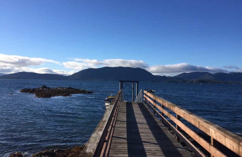 Dock at Alaska's Big Salmon Lodge.