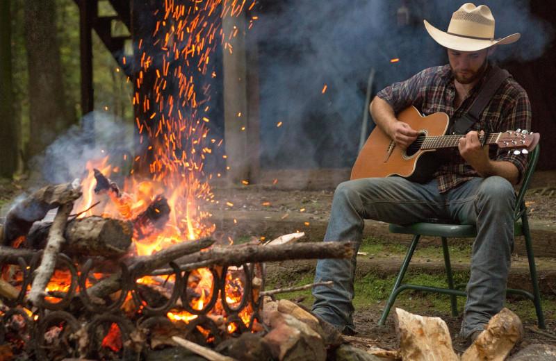Campfire at Forrest Hills Resort.