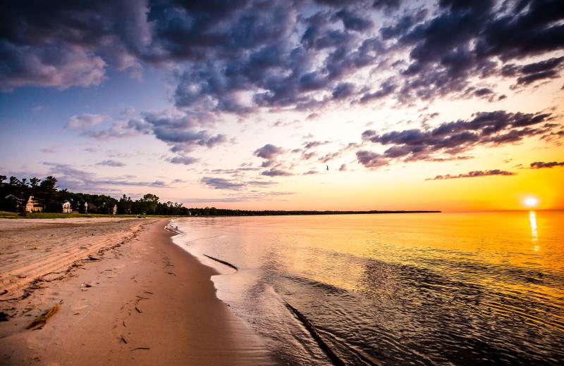 Beach at Glidden Lodge Beach Resort.